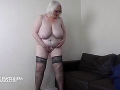 Stripping out of my granny pants and bra