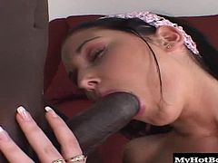 And thats exactly what happened to Belicia Avalos. She had a black cock and now finds it very hard to go back to fucking boring white dick. So she makes sure that she throats one down on the regular and has her pussy penetrated down until the balls are slapping against her hard clit.