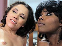 Kristina Rose wants to explore an ebony babe's cunt