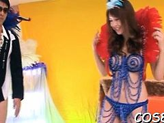 Harsh scenes of shlong riding with woman in cosplay show