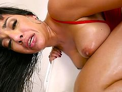 Dude with a huge cock fucks palatable anal hole of slutty milf Mercedes Carrera