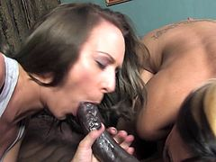 Fiona Cheeks sharing a black ding dong with her slutty friend