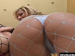 Velicity Von have agreed to a sticky anal threesome where they are going to get their tight asses drilled and give a hot titty fuck before getting lots of sticky sperm everywhere. They are going to do some really sexy cum swapping