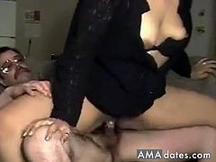 Before he fucks her meaty pussy, he first fucks her dirty mouth the way she likes it.