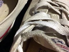 Cumming inside my Sister's dirty old Converse