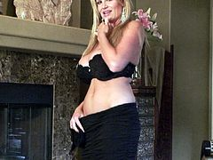 Kelly Madison's amazing breasts covered in cum by a nasty lover