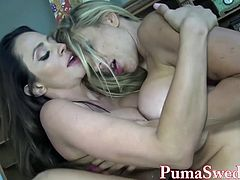 Busty Babe Arielle Makes Puma Swede Her Sex Toy!