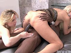 Mature darling Tara Lynn Foxx in a threesome with a black bod