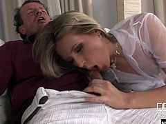 Her older lover has a cock that drives her mad, plus he gives her a pretty luxe lifestyle When he comes over, she opens up all three of her hot, juicy holes to him, while Cherry Jul just climaxes through it all The only downside to her pretty life is the regular facial she has to take.