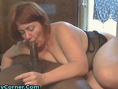 Milf really hard and let her suck him really sloppy enjoying every fucking second of it and she was really pleased to, she really loves his BBC! They fucked in cowgirl and doggy style and considering how fat she is she really did a great job riding that cock, he is a really lucky motherfucker, agree?