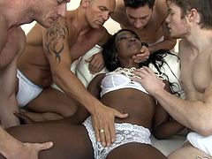 Black chick Skyler Nicole is in the mood for dirty interracial gangbang