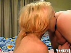 Ass lick and prostate massage by pretty blonde