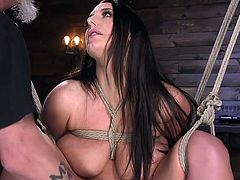 If you love watching women get tied up and dominated hard while having brutal orgasms, you've come to the right place. Join us right away at Hogtied and fulfill your wildest fantasies. Just watch our lovely Angela White. She sure is enjoying being helpless.