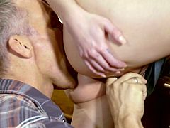 Redhead Cadey Mercury is one really slutty chick. She was so horny, that she seduced her mom's boyfriend, Marcus London, and fucked him right behind her mom's back. Relax and enjoy impetuous sex action!