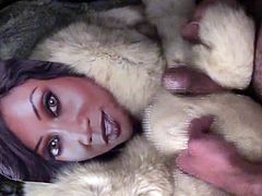 Playing with Diamond Jackson in fur