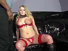 big breast blonde bbw milf enjoys her first extreme interracial big black cock fetish lesson