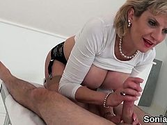Unfaithful british milf lady sonia pops out her huge jugs75z