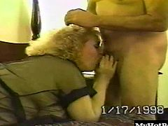 Thats right, this horny old bimbo loves bending over to take dick, getting on her stomach to suck dick, or spread her legs as she sprawls out on the bed with a plastic dick.