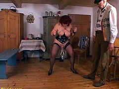 extreme pierced german bdsm milf slave enjoys rough big breast and never seen bevore pussy torture