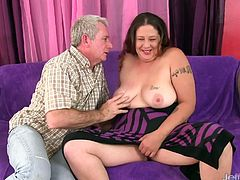 Sexy plumper gets her tits sucked and kissed on her ass and belly She gives a nice blowjob Then gets her asshole and pussy fucked good and deep in many positions He cums on her tits