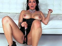 Busty Jelena Jensen Gets Off with Dildo in High Heels!