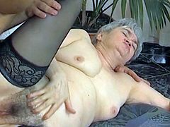 Hungarian Granny getting her wrinkled holes fucked