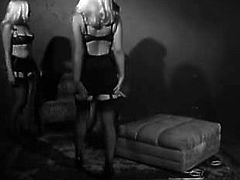 Ava lalonde is shown some lesbian porn black and white
