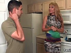 Young guy doesnt stand this MILF but after the attitude boot camp she seems to have changed a lot. Today she gets a chance to show lucky dude how good shes as she lets him drill her succulent pussy with his big rod.