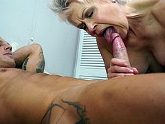 British mature Lady Sextasy and toyboy
