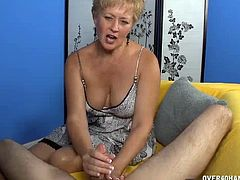 This couple is on their first date and the milf babe knows exactly what men would look for when it comes to a relationship. This is why she decides to pull out this guy's dick and give him a handjob in order to give things a lasting kick-start.
