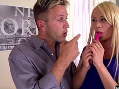 Her drill instructor cant help but fuck her pussy, as well as invite a buddy over to help him out with the glorious task of opening up this nasty blondes hole. She poses with a rose while the cum from both of their balls dips down her face, and she cant believe how much fun she just had.