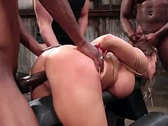 Join our company and enjoy how busty beauty, Britney Amber, was brought to her sexual limits with deepthroat blowjobs and hard fucking. This milf goddess loves sex and she enjoys getting her body covered with sticky cum...