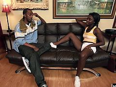 She prefers the sizes of their cocks, especially compared to all the white guys that try to get in her pussy. Jerell is a neighborhood boy that shes known her whole life, but now that shes eighteen and ready to make her own decisions, its time to take their relationship to the next level, and eventually hes making his way out the door while looking at his jizz load smothered all over her face.