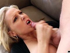 He meets hot cougar Julia Ann Turns out, hell be doing an internal shift, and his only job will be to please this hot MILF with every inch hes got If Julia Anns legendary blowjobs are part of his daily, then hell fuck her mature pussy all day long