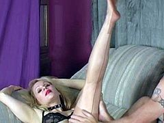 Blonde In Brown Fully Fashioned Stockings