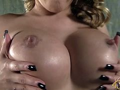 Kati Summers with big tits enjoying the pleasure of sex machine