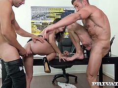 Two co-workers fuck sex-appeal and nasty secretary Valentina Bianco