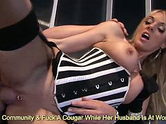 Big tits Jenny Baby and Stacey Saran fucking a fat meat bat and sharing thick sperm load