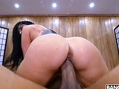 Big bottomed masseuse Romi Rain hooks up with hot blooded BBC