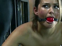 Teal Conrad is a gorgeous brunette, who loves being in BDSM bondage, as