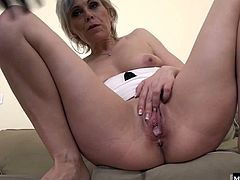 Mostly, to get to the top in her career. Now that shes retired, this cougar is ready to get her pussy pleased by the man of her choice the hot black stud from down the street. Her mouth is moist and practiced, and her pussy still feels plenty tight, as she stretches to take this huge piece of meat