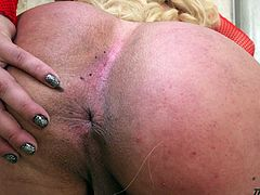 Big tittied tranny Raphaella Vasconcelos is jerking off a hard cock
