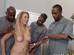 Erica Lauren is 63 years old. She's is horny she'll call any type of service men over to service... her, before Hubby gets home. Today's men and Erica's favorite -- big and black...