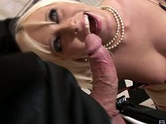 Filthy cum swallower Teena Lipoldino is on her knees getting fucked