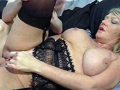 Mature British mom lick suck and fuck son