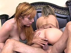 Carmen Valentina and Lauren Phillips want to choke on a fellow's dick