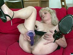 Shes been sucking cock for so many years, shes got a special set of wrinkles to prove it. But shes tired of those willy nilly white peckers, and this scrawny granny needs some real meat to eat Her hairy muff gets plastered with cum after she gets her brains fucked out by her first black cock