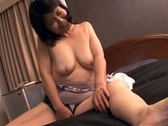 Horny Asian Granny getting fucked
