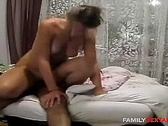 Dad fucks his eldest stepdaugter and she loves it!