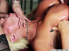 Alura Jenson enjoys a fuck with a stallion and a brunette with a dick